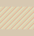 pastel baby color fun striped seamless background vector image vector image