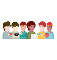 people and friends cartoon vector image vector image