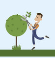 people tree pruner vector image
