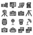 photography icons set eps10 digital vector image vector image