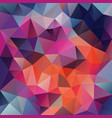 polygonal square background holographic vector image vector image