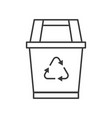 recycle bin cleaning service related outline icon vector image