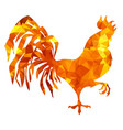 red rooster low poly triangulation vector image