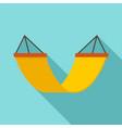 rest hammock icon flat style vector image