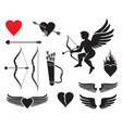 set cupid icons - valentines day design vector image