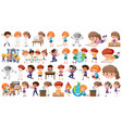 set learning kids vector image vector image