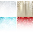 set of winter white gold blue red background vector image vector image