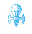 silhouette bulb with thrusters to creative idea vector image
