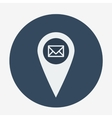 Single geo tag mail icon vector image