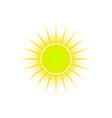 sun icon for weather design vector image vector image