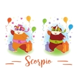 The signs of the zodiac Guinea pig Scorpio vector image