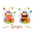 the signs zodiac guinea pig scorpio vector image vector image