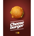 Top view of cheesburger vector image vector image