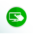 Touch screen icon display finger tap vector image vector image