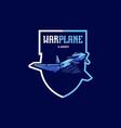 warplane mascot logo design with modern vector image