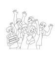 waving teenys vector image