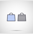 women bag with handles icon vector image vector image