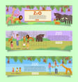 zoo web banner template set flat vector image vector image
