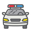 police car filled outline icon transport and auto vector image