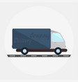 delivery truck in flat style vector image