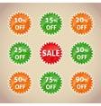 Set of sale lebels vector image