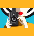 taking pictures vector image