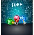 Conceptual LIght Bulb IDEA backgroud with space vector image