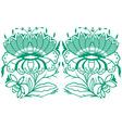 classical oriental flower set vector image