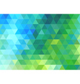 green blue triangle background vector image