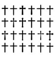 religion cross icon set vector image
