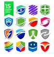 15 modern shield logos design vector image vector image