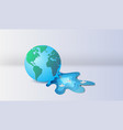 3d paper art and craft of earth with floating vector image vector image