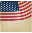 American flag vintage background vector image vector image