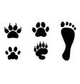 Animals and man foot print clip art