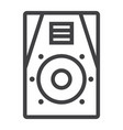 audio monitor line icon music and instrument vector image vector image