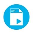 AVI file icon vector image