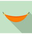 beach hammock icon flat style vector image vector image