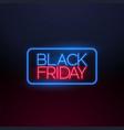 black friday neon light background design vector image vector image