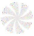 cannabis fireworks swirl rotation vector image vector image