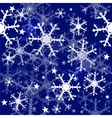 Christmas seamless blue background vector image