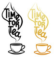 cup and lettering vector image vector image