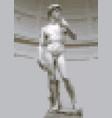 david statue michelangelo in pixel art style vector image