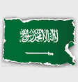 design flag saudi arabia from torn papers vector image vector image