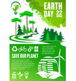 earth day banner of save our planet concept design vector image vector image