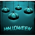 EPS 10 Halloween background with moon and pumpkins vector image