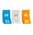 fabric clothing labels option banner vector image vector image