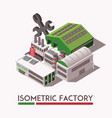 factory isometric set vector image vector image