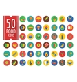 Food Icons Set Fruit Kitchen and Drinks vector image