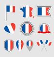 france flag icons set french flag symbol vector image vector image