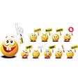 Funny emoticons vector image vector image